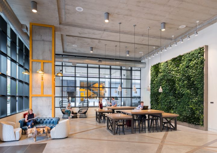 The Grand Lobby with Green Wall